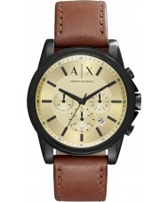 Armani Exchange AX2511 brun foncé montre chronographe de Mens