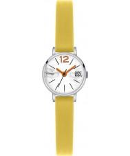 Orla Kiely OK2007 Mesdames FRANKIE cuir jaune montre bracelet