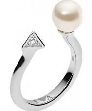 Emporio Armani EG3288040-6.5 Mesdames deco perles bague en argent sterling - taille m.5