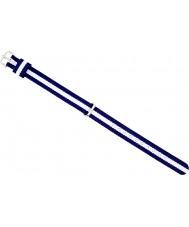 Daniel Wellington DW00200074 Mesdames chic 21.5mm glasgow argent blanc et bleu marine en nylon bleu sangle de rechange