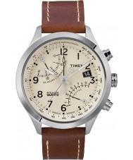 Timex T2N932 crème Mens brun fly-back montre chronographe