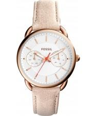 Fossil ES4007 Mesdames tailleur marron clair montre bracelet en cuir