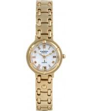 Krug-Baumen 5116DL Charleston 4 diamants cadran blanc bracelet en or