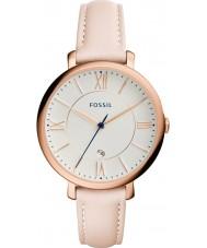 Fossil ES3988 Mesdames blush lumière jacqueline montre bracelet en cuir