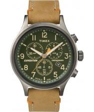 Timex TW4B04400 Mens expédition scout cuir beige montre chronographe