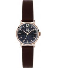 Orla Kiely OK2014 Mesdames FRANKIE brun foncé montre bracelet en cuir