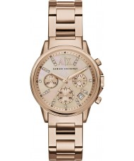 Armani Exchange AX4326 robe de dames plaqué or rose montre chronographe