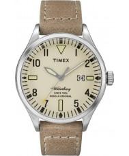 Timex TW2P83900 Mens waterbury cuir beige montre bracelet