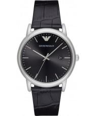 Emporio Armani AR2500 robe Mens cuir noir montre bracelet