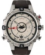 Timex T2N721 Mens marée température brun naturel montre boussole