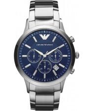 Emporio Armani AR2448 Mens chronographe classique montre en argent bleu
