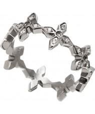 Edblad 31630055-M Mesdames windsor anneau en acier d'argent - taille p (m)