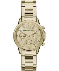 Armani Exchange AX4327 Mesdames robe plaqué or montre chronographe