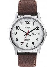 Timex T20041 Mens blanc marron facile montre lecteur