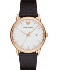 Emporio Armani AR2502 Mens classique noir cuir marron montre bracelet