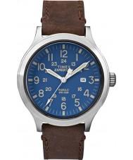 Timex TW4B06400 Mens expédition scout cuir marron montre bracelet