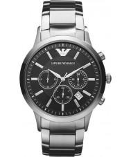 Emporio Armani AR2434 Mens chronographe classique montre en argent noir