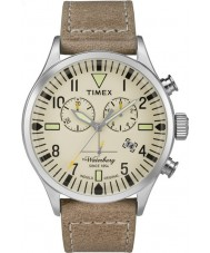 Timex TW2P84200 Mens waterbury cuir beige bracelet de montre chronographe