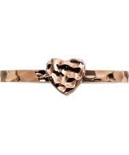 Edblad 3153441960-XL Mesdames petit coeur rose bague plaqué or - taille s (xl)