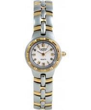 Krug-Baumen 2614DL Regatta 4 diamants cadran blanc bracelet deux tons