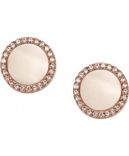 Fossil JF01715791 Mode pour dames rose boucles d'oreille en acier or