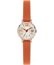 Orla Kiely OK2024 Mesdames FRANKIE orange, montre bracelet en cuir