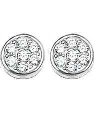 Thomas Sabo H1848-051-14 Ladies cercles mousseux zircone disque pave boucles d'oreille