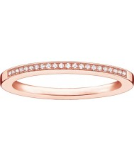 Thomas Sabo Boucle de diamants en or rose rose